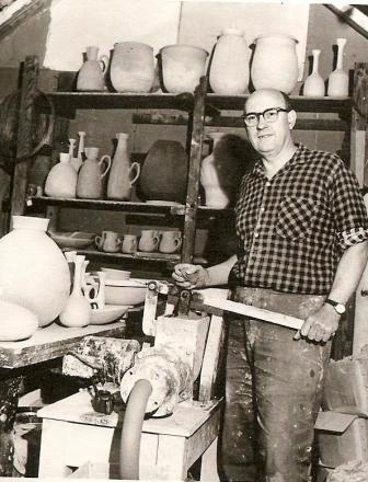 Stan Clarke in his studio, nd. Nat Arch CGP C131970