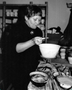 Margo Meyer in her studio