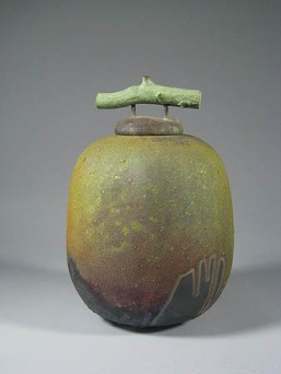 Tom Smith LIDDED VESSEL WITH PATINATED STICK