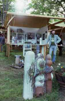 A-M Tremblay at a craft market, Val David, QC, 1977. Photo Ronald Crooks.