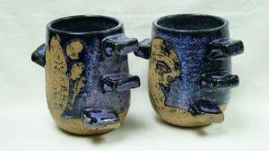 A- M Tremblay. Two Mugs with Lug Handles. Undated. AntiquePromotion des Antiquités du Québec. Photo : collectoboce