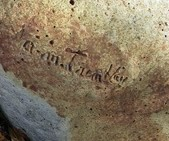 A-M Tremblay incised signature on betonique