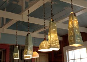 Harlan House. 2015. Pool Room Condo Lamps. Porcelain. 53-58 cm high.