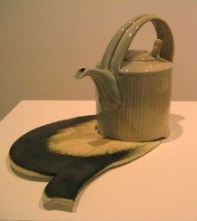 Harlan House. Reeded Teapot With shadow. 2006.