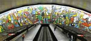 Jean Cartier Papineau Metro Station Mural