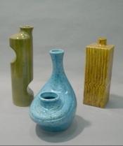 left: Jean Cartier. Vases c.1972. Musée Marius-Barbeau. Gift of Lisette Gagné. Saint-Joseph-de-Beauce