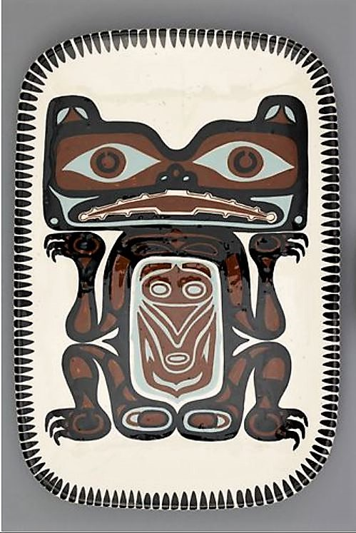 David Lambert. The Great Grizzly Bear Before His Terrible Battle With Mother Beaver, 1967. 3.6 x 28.8 x 42.7 cm. Collection: UBC Museum of Anthropology. Photo: Kyla Bailey.