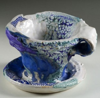 Barbara Tipton. DELFT EXTRACT . 2009.  Ceramic. 13 x 19.2 x 17 cm. Collection:  Alberta Foundation for the Arts.