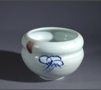 Barbara Tipton. Cloud Bowl. Handpainted porcelain.