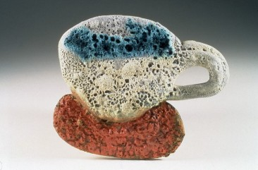 "Barbara Tipton. 1999. ""Recovered I (Caribe)"", 14 cm high, multiglazed, multifired, 1999."