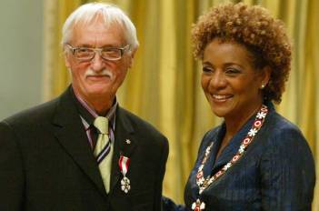 Victor Cicansky receiving the Order of Canada Member of the Order of Canada, May 25, 2009. from Governor General, Michaëlle Jean