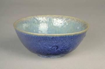 Normandeau, Pierre-Aimé. c.1936,. Bowl, stoneware. 7.c cm h x 17.5 cm w. Collection: Musée des beaux-arts de Montréal.
