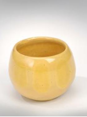 Donn Zver. 1966. First Bowl. Canary. Yellow glaze. Earthenware. 10.2 x 10.2 cm.
