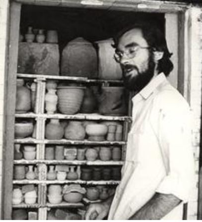 Donn Zver. 1967. At the Sheridan College Kiln.